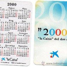 Coleccionismo Calendarios: CALENDARIO BOLSILLO LA CAIXA AÑO 2000 CATALAN CAIXABANK CAIXA BANK CAJA PENSIONES. Lote 31299867