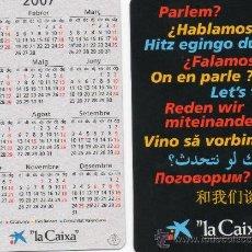 Coleccionismo Calendarios: CALENDARIO BOLSILLO LA CAIXA AÑO 2007 CATALAN CAIXABANK CAIXA BANK CAJA PENSIONES. Lote 31311323