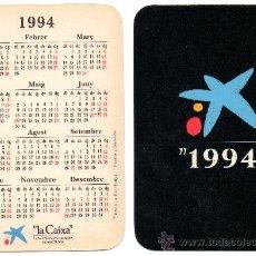Coleccionismo Calendarios: CALENDARIO BOLSILLO LA CAIXA. AÑO 1994. CAJA PENSIONES. CAIXA PENSIONS. CAIXABANK. CATALAN. MIRO. Lote 31366095