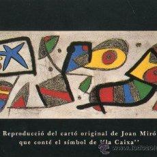 Coleccionismo Calendarios: CALENDARIO BOLSILLO LA CAIXA. AÑO 1991. MIRO. CATALAN. CAIXABANK. CAJA PENSIONES. PENSIONS. BANK. Lote 31366223