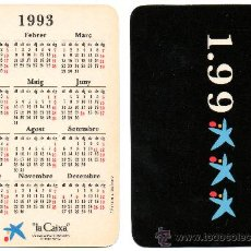 Coleccionismo Calendarios: CALENDARIO BOLSILLO LA CAIXA. AÑO 1993. CATALAN. CAIXABANK. CAJA PENSIONES.PENSIONS. MIRO. Lote 31366323