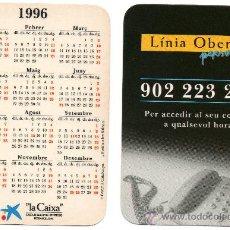 Coleccionismo Calendarios: CALENDARIO BOLSILLO LA CAIXA. AÑO 1996. CATALAN. CAIXABANK. CAJA PENSIONES. PENSIONS. LINEA OBERTA. Lote 31366361