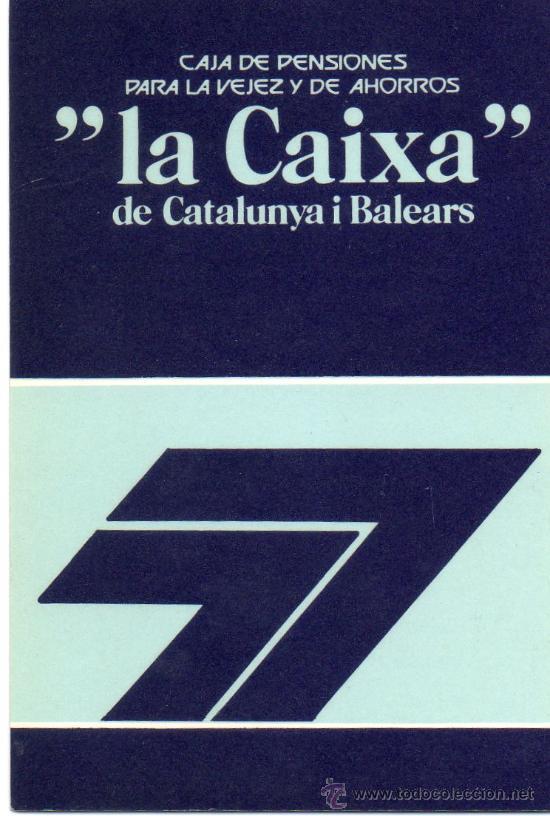 CALENDARIO BOLSILLO LA CAIXA. AÑO 1977. CASTELLANO. CAIXABANK. CAJA PENSIONES. PENSIONS. BANK (Coleccionismo - Calendarios)