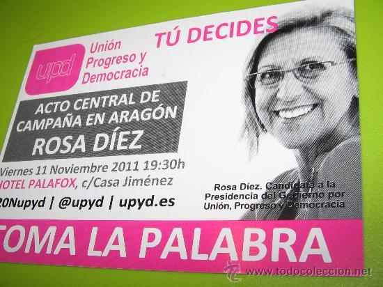 CALENDARIO BOLSILLO. POLITICO. UPD (ROSA DIEZ) 2012 (CHICA) (Coleccionismo - Calendarios)