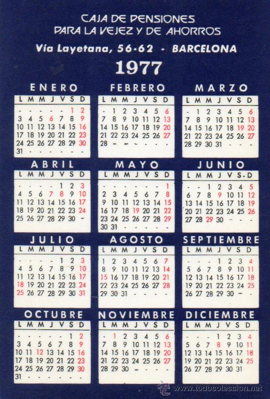 Coleccionismo Calendarios: CALENDARIO BOLSILLO LA CAIXA. AÑO 1977. CASTELLANO. CAIXABANK. CAJA PENSIONES. PENSIONS. BANK - Foto 2 - 31366492