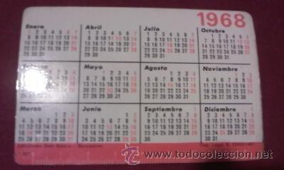 Coleccionismo Calendarios: Calendario de bolsillo.1968 virgen con niño.Ediciones Don Bosco Barcelona.Tipo FOURNIER. - Foto 2 - 31423118