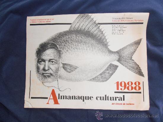 ALMANAQUE CULTURAL DE 1988 DE CIRCULO DE LECTORES (Coleccionismo - Calendarios)
