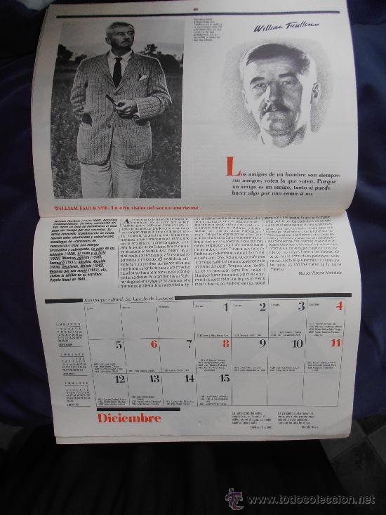 Coleccionismo Calendarios: ALMANAQUE CULTURAL DE 1988 DE CIRCULO DE LECTORES - Foto 2 - 31510195