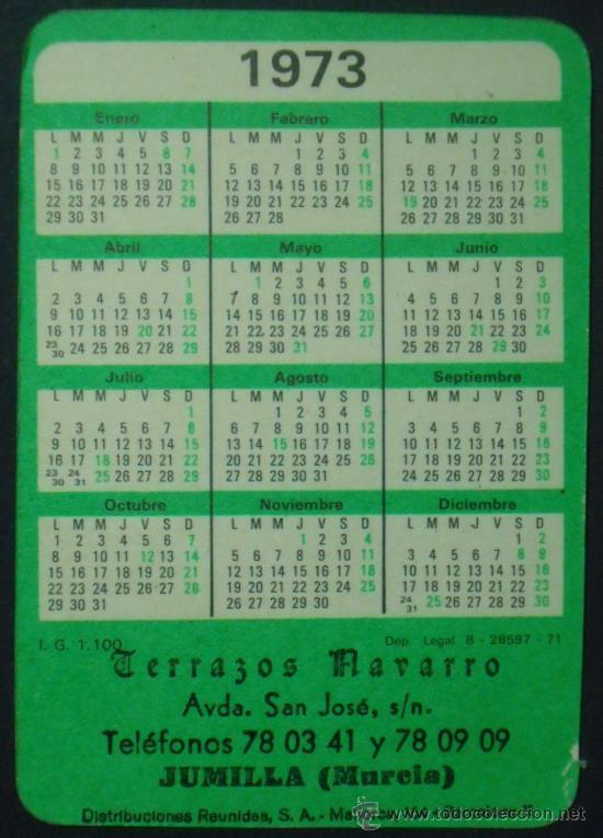 Coleccionismo Calendarios: Calendario. Terrazos Navarro. 1973. - Foto 2 - 31565668