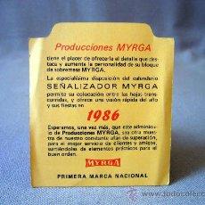 Coleccionismo Calendarios: CALENDARIO DE BOLSILLO, 1986, PRODUCIONES MYRGA. Lote 31704901
