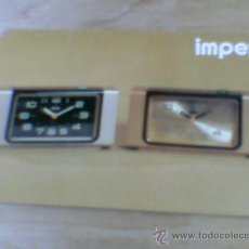 Coleccionismo Calendarios: CALENDARIO RELOJES MARCA IMPEX RELOJ DESPERTADOR 1977. Lote 31798216