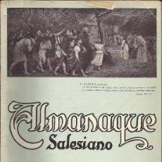 Coleccionismo Calendarios: ALMANAQUE SALESIANO 1928. Lote 32242460