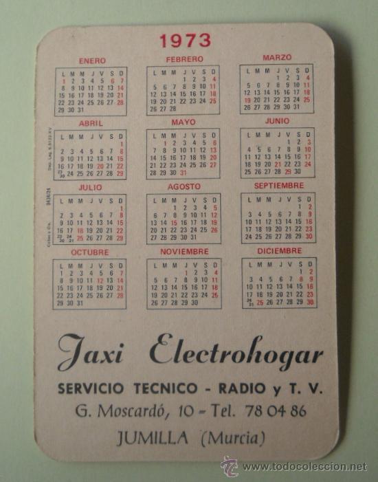 Coleccionismo Calendarios: Calendario. Servicio técnico. Radio y TV. 1973. - Foto 2 - 32299496