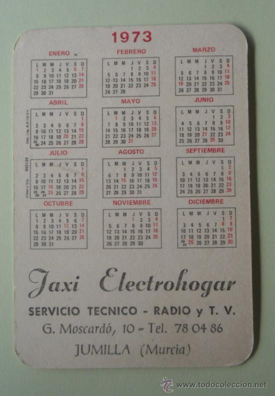 Coleccionismo Calendarios: Calendario. Servicio técnico. Radio y TV. 1973. - Foto 2 - 32299978