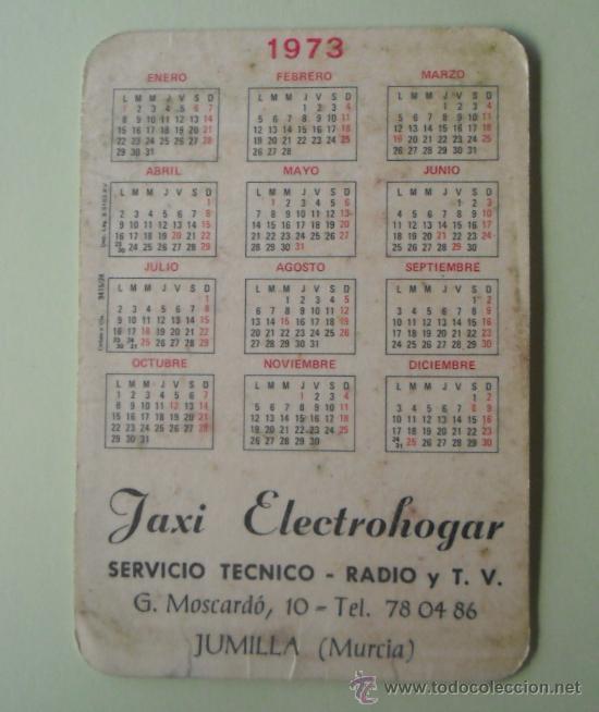 Coleccionismo Calendarios: Calendario. Servicio técnico. Radio y TV. 1973. - Foto 2 - 32299997