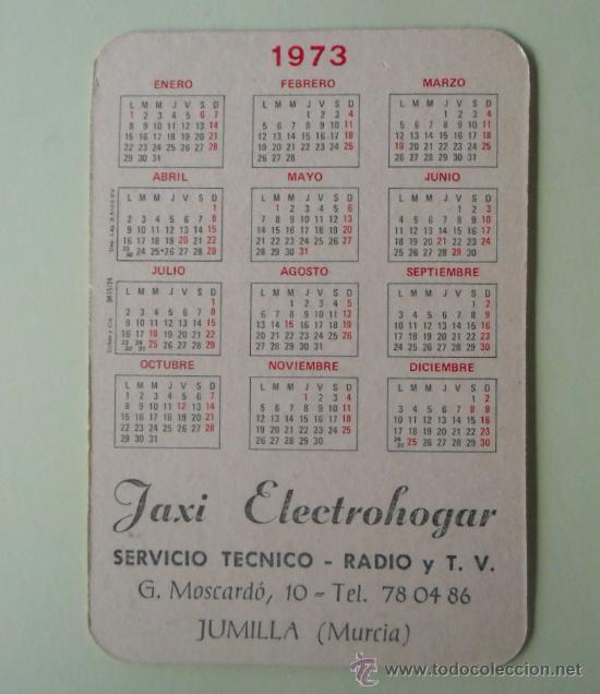 Coleccionismo Calendarios: Calendario. Servicio técnico. Radio y TV. 1973. - Foto 2 - 32300006
