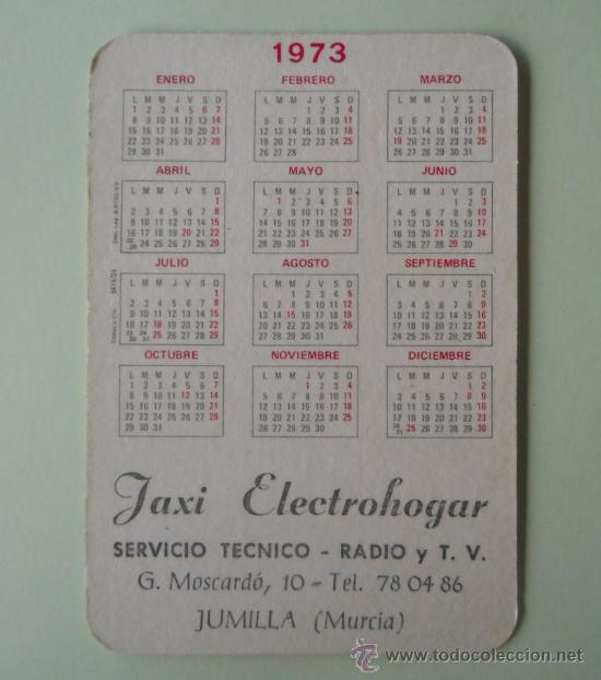 Coleccionismo Calendarios: Calendario. Servicio técnico. Radio y TV. 1973. - Foto 2 - 32300015