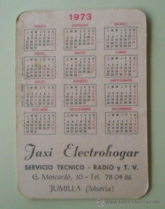 Coleccionismo Calendarios: Calendario. Servicio técnico. Radio y TV. 1973. - Foto 2 - 32312612