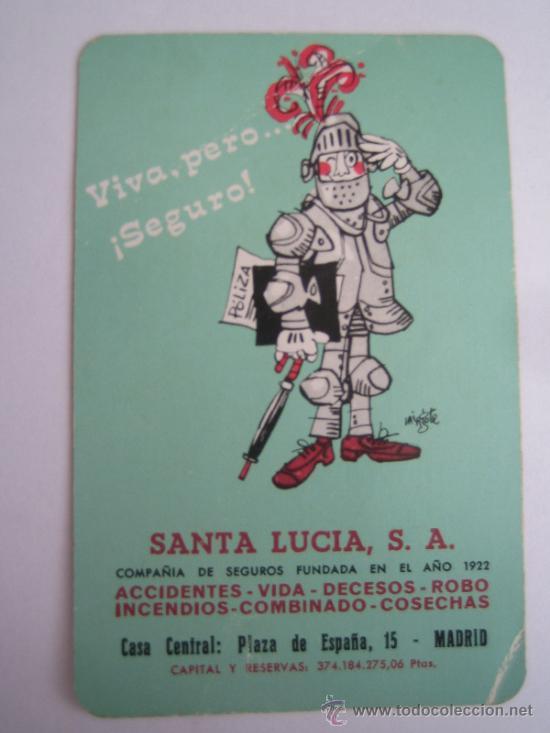 CALENDARIO HERACLIO FOURNIER SANTA LUCIA 1972 (Coleccionismo - Calendarios)