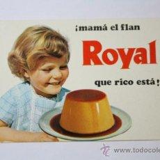 Coleccionismo Calendarios: CALENDARIO PUBLICIDAD FLAN ROYAL, INDUSTRIAS RIERA - MARSA, S.A., AÑO 1970. Lote 32564923
