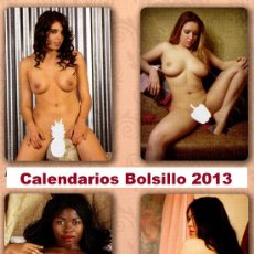 """Coleccionismo Calendarios: 7 CALENDARIOS BOLSILLO """"X"""". SERIGRAFIADOS 2013. Lote 112139378"""