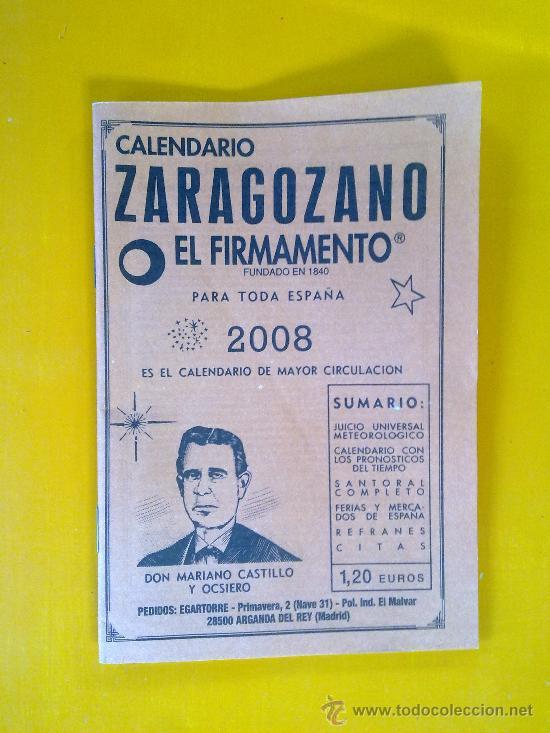 CALENDARIO ZARAGOZANO, EL FIRMAMENTO, 2008 (Coleccionismo - Calendarios)