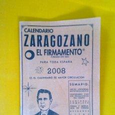 Coleccionismo Calendarios: CALENDARIO ZARAGOZANO, EL FIRMAMENTO, 2008. Lote 32936327