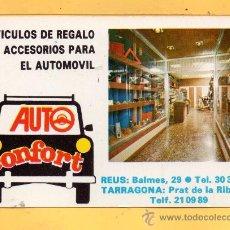 Coleccionismo Calendarios: CALENDARIO DEL AÑO 1977 CON PUBLICIDAD DE AUTO CONFORT REUS . Lote 32944953