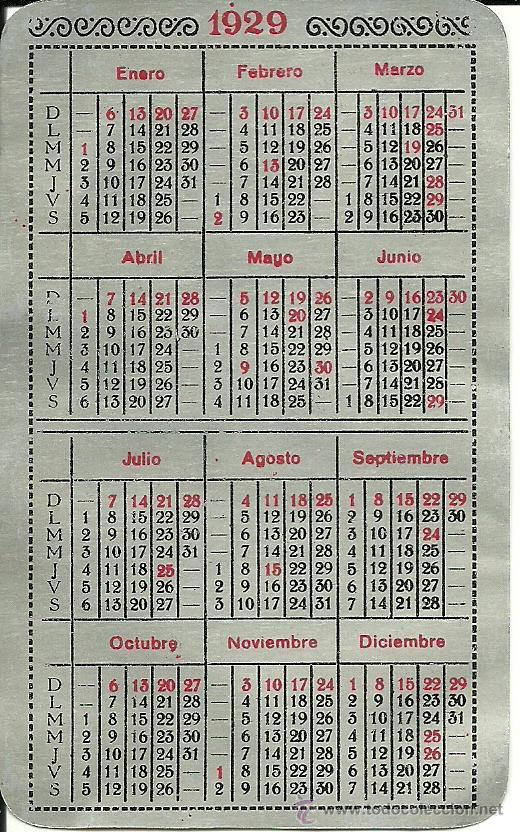 Calendario 1929.Ca 1194 Calendario De Alumnio Tamburini Colomer Sabadell Ano 1929