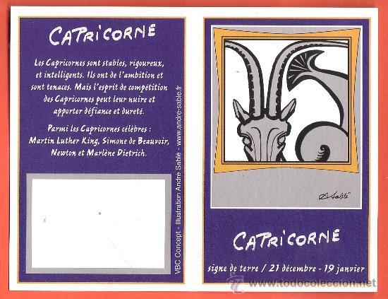 Calendario Frances.Calendario Bolsillo Frances Signos Zodiaco Capricornio Capricorne Francia Diptico Ano 2007