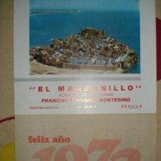 Coleccionismo Calendarios: ALMANAQUE DE PARED DEL AÑO 1973 COMPLETO Y TAMBIEN CON LOS MESES DE ENERO Y FEBRERO DE 1974 , 31X20. Lote 33049533