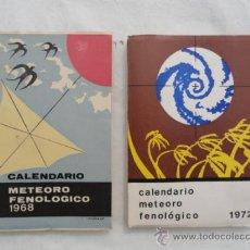 Coleccionismo Calendarios: 2 CALENDARIOS METEORO-FENOLOGICO. AÑOS 1968-1972.. Lote 33105726