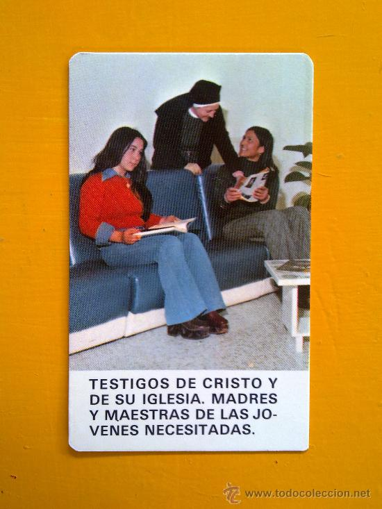 CALENDARIO DE BOLSILLO RELIGIOSO EVAGRAF VITORIA 1977 RELIGIOSAS OBLATAS EXCELENTE ESTADO (Coleccionismo - Calendarios)