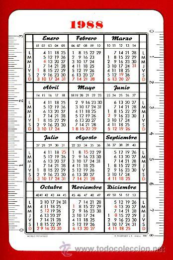 Coleccionismo Calendarios: CALENDARIO FOURNIER, PUBLICIDAD TABACO FORTUNA , SULF , 1988 , ORIGINAL, CAL6922 - Foto 2 - 33444552