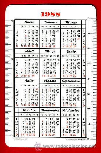 Coleccionismo Calendarios: CALENDARIO FOURNIER, PUBLICIDAD TABACO FORTUNA , BARCO VELA , 1988 , ORIGINAL, CAL6921 - Foto 2 - 33444566