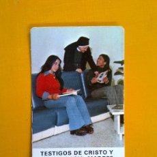 Coleccionismo Calendarios: CALENDARIO DE BOLSILLO RELIGIOSO EVAGRAF VITORIA 1977 RELIGIOSAS OBLATAS EXCELENTE ESTADO. Lote 34148147