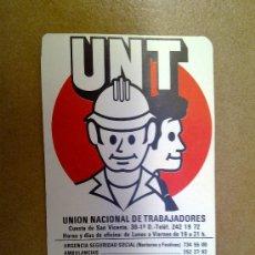 Coleccionismo Calendarios: CALENDARIO UNT UNION NACIONAL DE TRABAJADORES 1983 . Lote 33530889