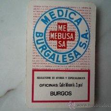 Coleccionismo Calendarios: CALENDARIO FOURNIER 1977. PUBLICIDAD MÉDICA BURGALESA MEBUSA. BURGOS. ¡RARO Y ÚNICO EN TC!. Lote 33641808