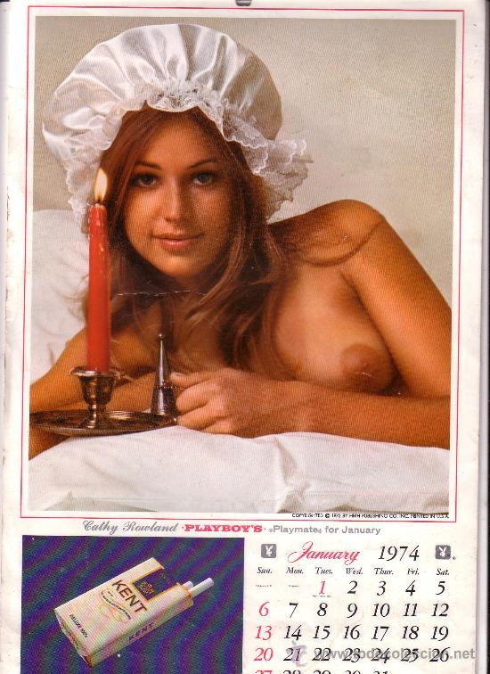 Calendario Play Boy.Calendario De Pared Playboy 1974 Playmate Calendar Publicidad De Tabaco Kent