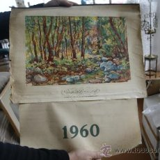 Coleccionismo Calendarios: ANTIGUO CALENDARIO DE GRAFICAS BOVERS. ILUSTRADO POR ALBERT RAFOLS. 1960. Lote 34068130