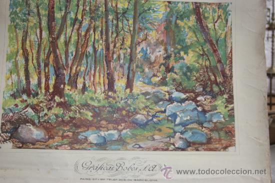 Coleccionismo Calendarios: antiguo calendario de graficas bovers. Ilustrado por Albert Rafols. 1960 - Foto 2 - 34068130