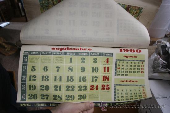 Coleccionismo Calendarios: antiguo calendario de graficas bovers. Ilustrado por Albert Rafols. 1960 - Foto 4 - 34068130