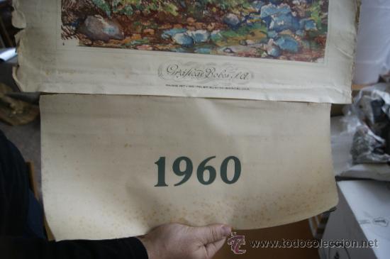 Coleccionismo Calendarios: antiguo calendario de graficas bovers. Ilustrado por Albert Rafols. 1960 - Foto 5 - 34068130