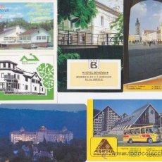 Coleccionismo Calendarios: LOTE DE 6 CALENDARIOS DE HOTELES DE LA ANTIGUA CHECOSLOVAQUIA, REPUBLICA CHECA Y ESLOVAQUIA AÑOS 90. Lote 34183652