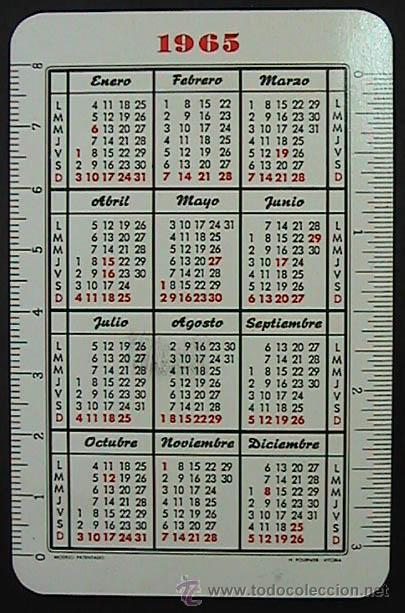 Calendario Del Ano 1965.Calendario Fournier Canada Dry Refrescos Fabu Vendido En