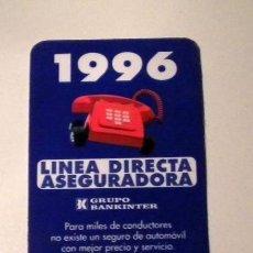 Coleccionismo Calendarios: CALENDARIO - ASEGURADORA GRUPO BANKINTER. Lote 34330476