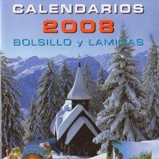 Coleccionismo Calendarios: CATALOGO DE CALENDARIOS SERIE EGC DEL 2008. Lote 34334603