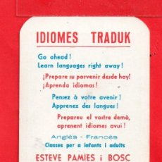 Coleccionismo Calendarios: UN BONITO CALENDARIO PUBLICIDAD DE REUS ( TARRAGONA ) DEL AÑO 1972 VER FOTO POSTERIOR . Lote 34338949
