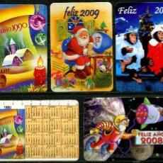 Coleccionismo Calendarios: 5 CALENDARIOS BOLSILLO – NAVIDAD. Lote 34759868