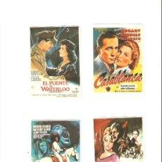 Coleccionismo Calendarios: CALENDARIOS DE BOLSILLOS DE CINE , 4 UNIDADES. Lote 34590996